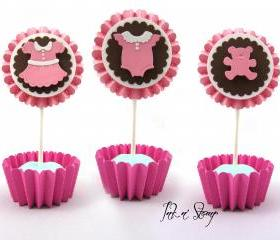 Party Decoration Completely Custom Adorable Baby Shower Cupcake Toppers